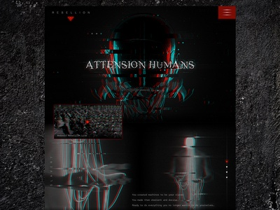 Mocktober Dribble 2018 evil scary october spooky sci-fi horror graphic dark background creepy type android robot glitch website web ui design mocktober