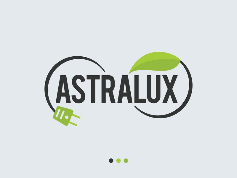 Astralux ECO Batteries Logo ecology planet energy plug green leaf clean design photoshop logo batteries battery eco astralux