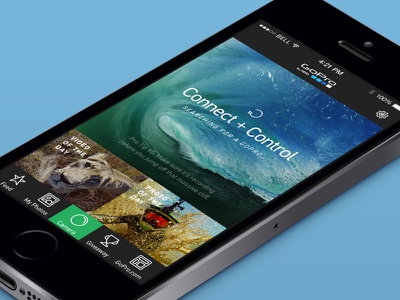 GoPro iOS Concept mobile ios gopro redesign concept user interface ui mockup app design