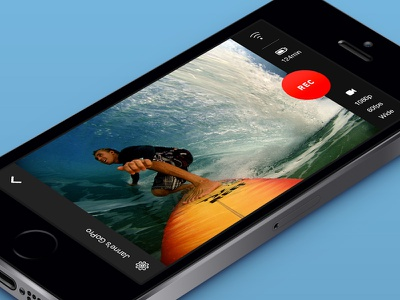GoPro iOS Concept  gopro ios app concept iphone record camera