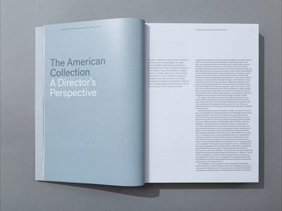 Reflections Book - Director's Perspective Essay layout typography art book art catalog books book design