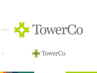 Unused concept — TowerCo Logo Refresh unused work killed concept identity typography logo design brand identity