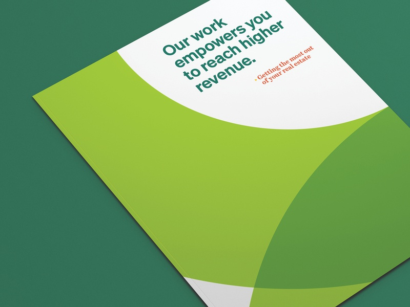 Unused Concept - TowerCo Landowner Brochure print design concept identity brand print