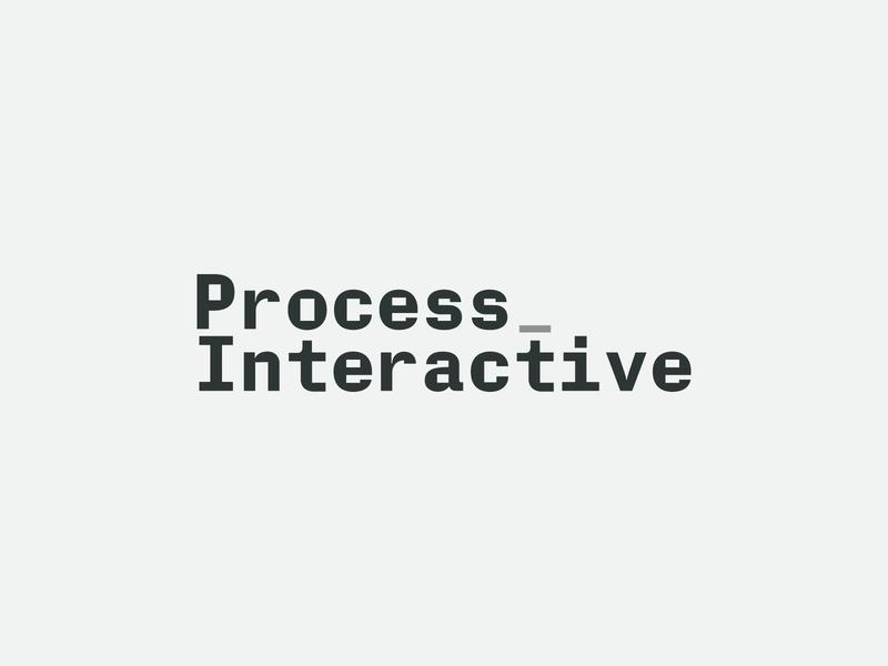 Unused Concept - Process Interactive brand identity branding flowchart custom type typography monospace logotype logo web developer identity