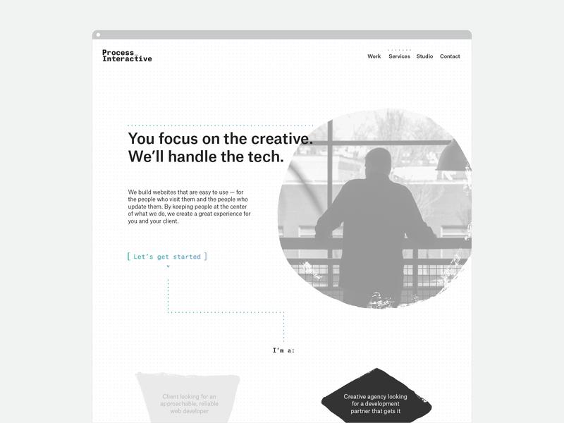 Unused Concept - Process Interactive identity web design concept