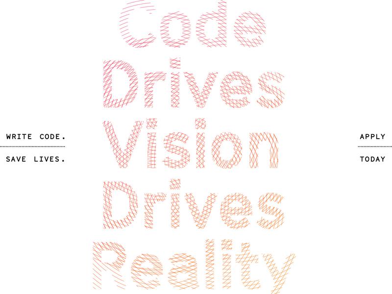 Unused Concept - Recruitment Campaign concept art tech radar typography concept