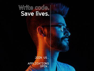 Unused Concept - Recruitment Campaign portraits typography color gradient photography portrait radar technology