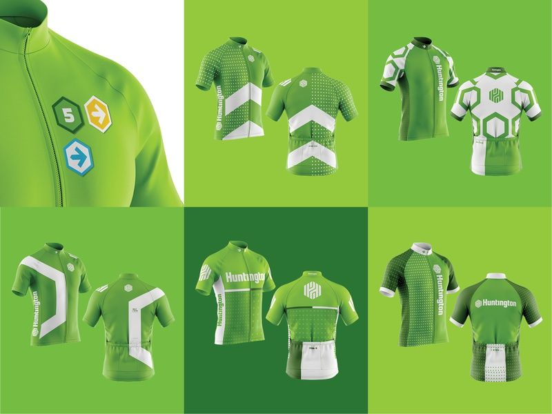 Huntington Bank Pelotonia Jerseys cyclist bike sportswear apparel design apparel jersey cycling jersey cycling kit cycling