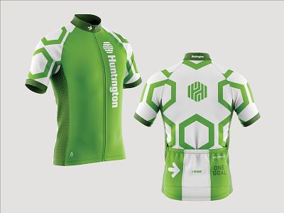 Huntington Bank - Pelotonia Jersey apparel design pattern bank financial brand identity apparel graphics athletic apparel athletic design cycling kit cycling jersey cycling athletic apparel