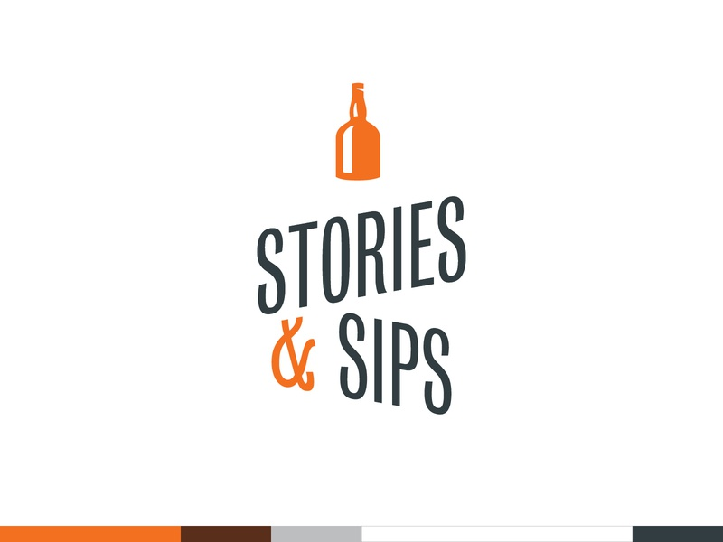 Unused Concept - Stories & Sips typography ireland irish whiskey whiskey vector branding and identity brand identity logo design logotype logo identity design branding identity