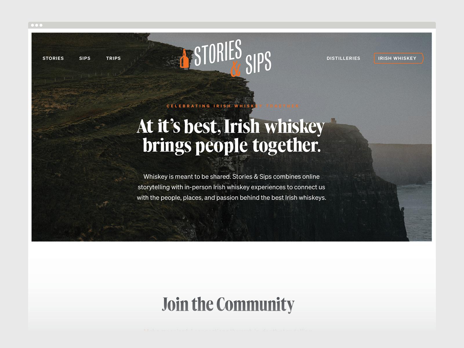 Unused Concept - Stories & Sips Website