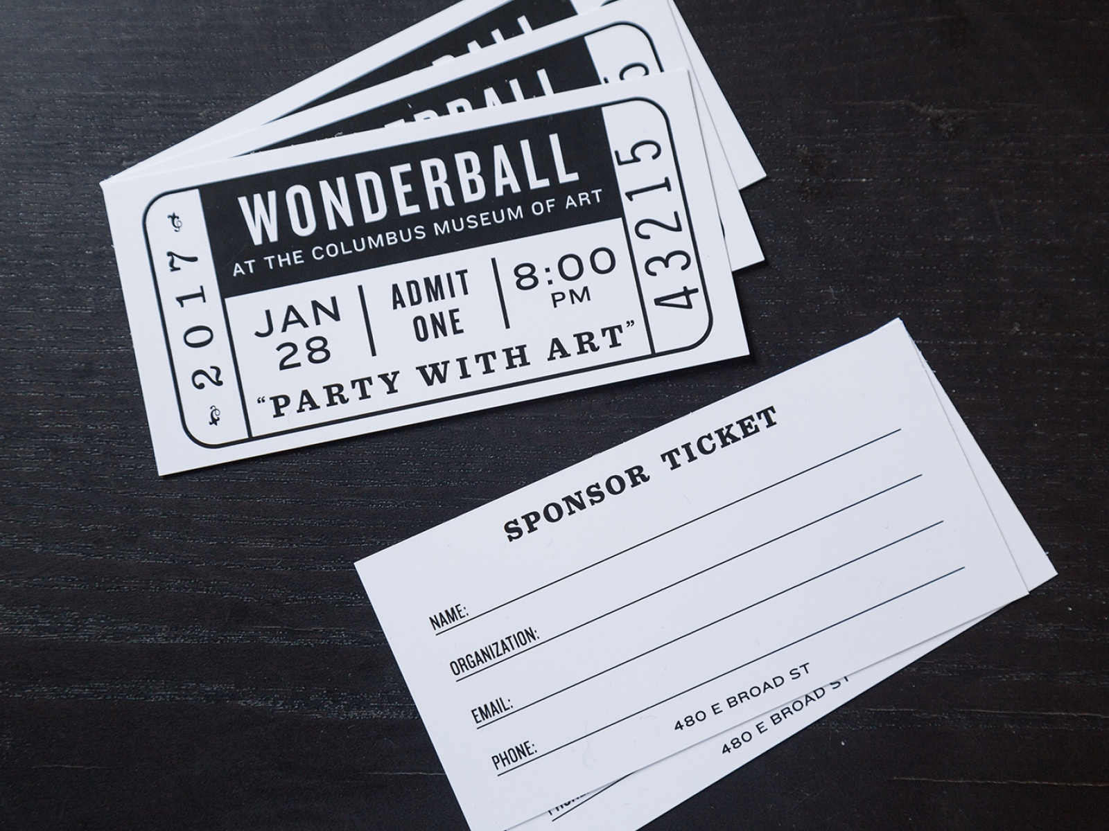 Wonderball 2017 Sponsor Ticket