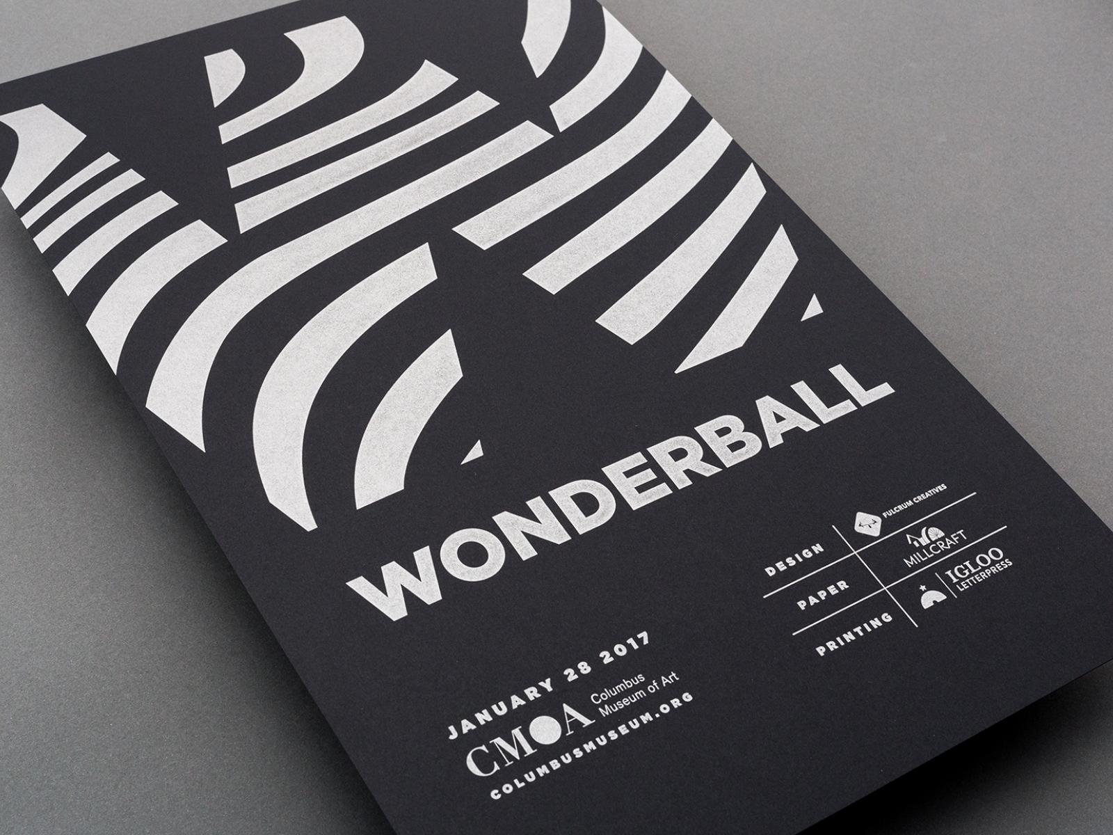 CMA Wonderball 2017 - Letterpress Poster