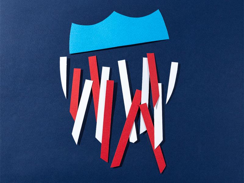 Ashleigh Axios Event Poster paper art poster satire politics poster design political illustration cut paper
