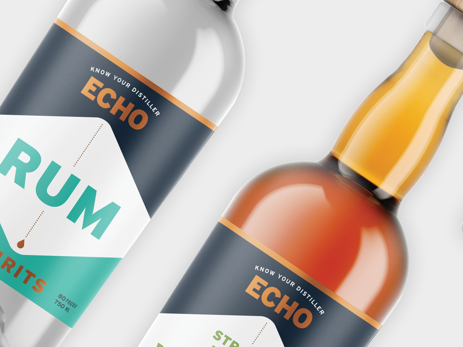 Echo Spirits Distilling Label Design