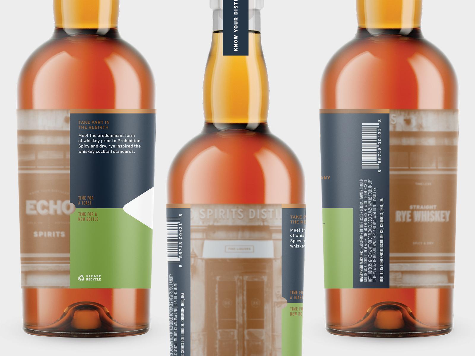 Echo Spirits Distilling Label Design