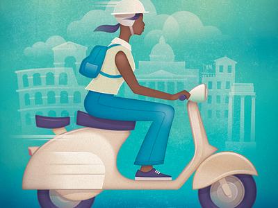 Vespa - Vintage Travel Poster travel kevincreative italy rome scooter vintage retro poster vespa