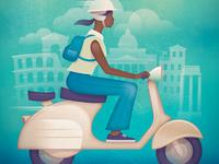 Vespa - Vintage Travel Poster