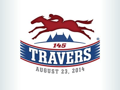 Kevincreative - 2014 Travers Logo new york logo design racing horse blue red logo