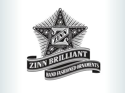 Kevincreative - Zinn Brilliant Ornaments Logo banner star engraved ornament xmas christmas