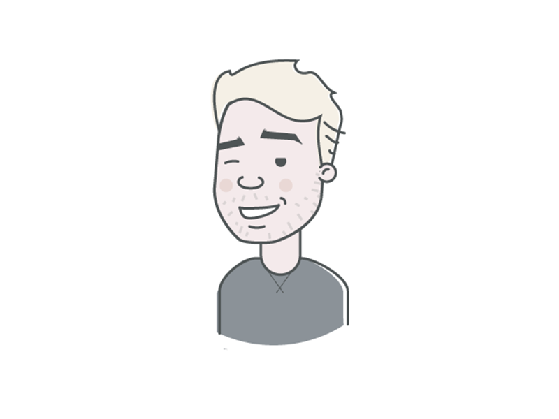 Team Introduction: Bailey Latimer digital team illustration logo face portrait icon flat introduction avatar