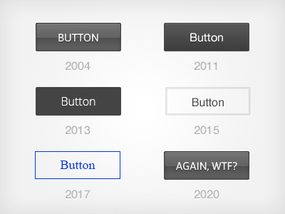 Evolution button ui sarcasm flat glossy evolution web