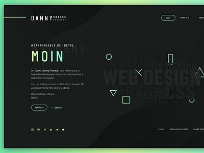 Portfolio Re-Design 2021 ux design interface portfolio web dark ui