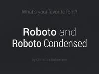 Favorite Font roboto roboto condensed font typo webfont dark