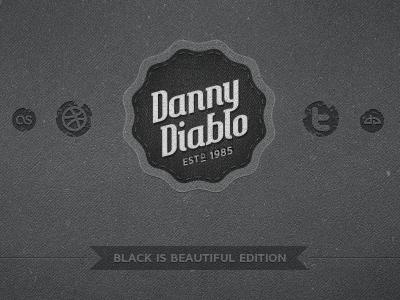 Dannydiablo v3 [black edition] dark textures vintage retro black grunge ribbon portfolio