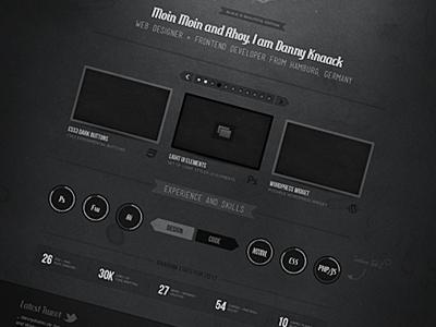 Portfolio Mockup dark black portfolio ui web ribbon texture mockup