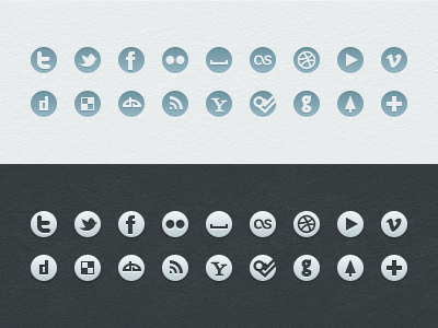Social Icons (Free) icons social simple psd vector freebie free web ui