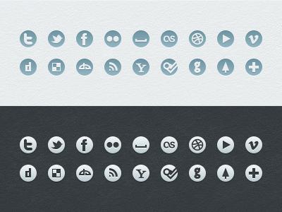Social Icons (Free) icons social simple psd vector freebie free web ui