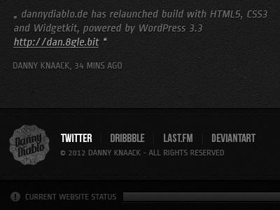 Dannydiablo Black Edition portfolio web dark black white grunge texture wordpress ui button css3 html5 icons ribbon arrows