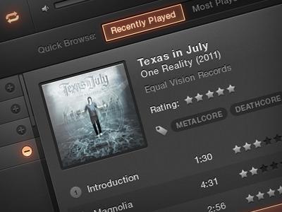Ipad Music App ipad mobile app music ui dark crisp concept black shiny glow