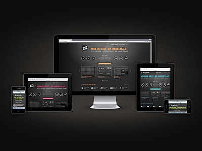 Portfolio Update portfolio web ui responsive mobile retina svg ipad iphone dark black texture