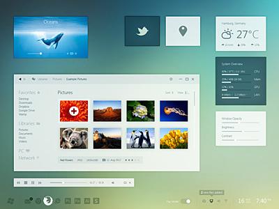 Windows 8 Day Mode windows 8 metro desktop pc gui ui simple minimal iconsweets climacons