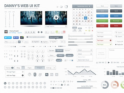 UI Library Light ui button arrow slider menu web kit graph icons pictogram library mockup symbol light gradient photoshop vector iconsweets glyphicons
