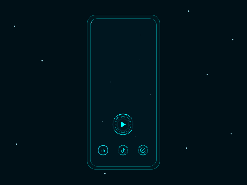 Futuristic Space UI mobile games mobile design concept art design mobile gui futuristic ui mobile game ui mobile game space ui clean iconography icon ui design ui simple ui tron game art game ui game design