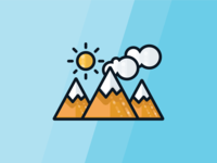 Camping Icons- mountains