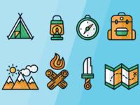 Camping Icons - Fullset