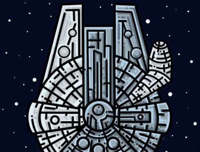 The Millennium Flacon Illustration