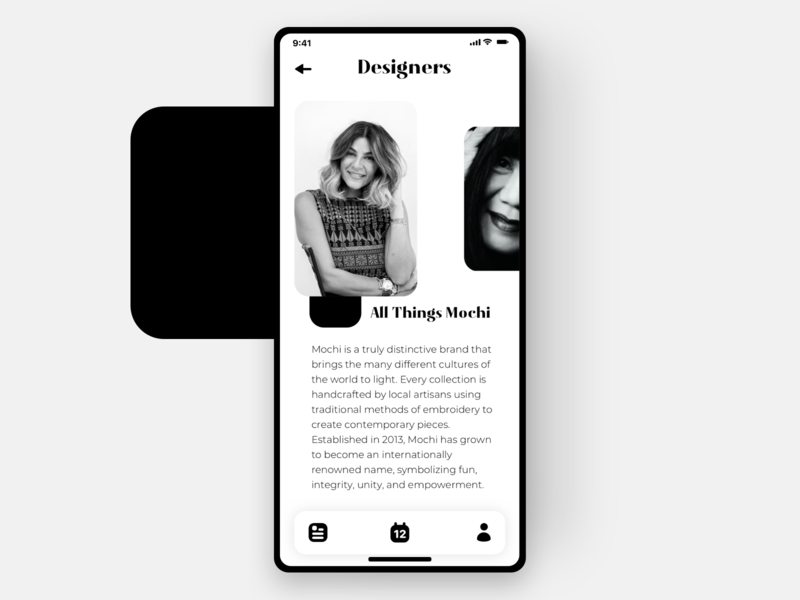 NYFW - Designer page mobile app highend fashion ui design fashionweek newyork user interface design user experience user interface ui  ux clean appdesign app ux designer uidesigner ux ui ux design uidesign