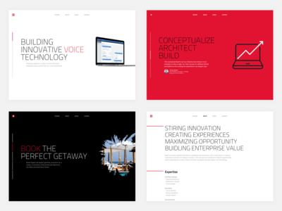 Minimalist Web Consultancy Website Design