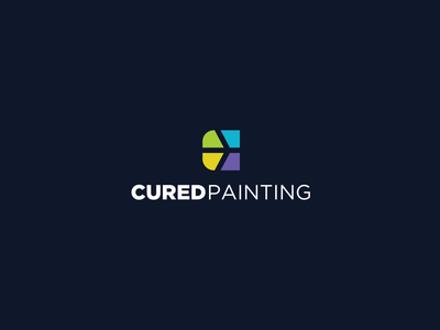 Cured Painting secondary logo concept
