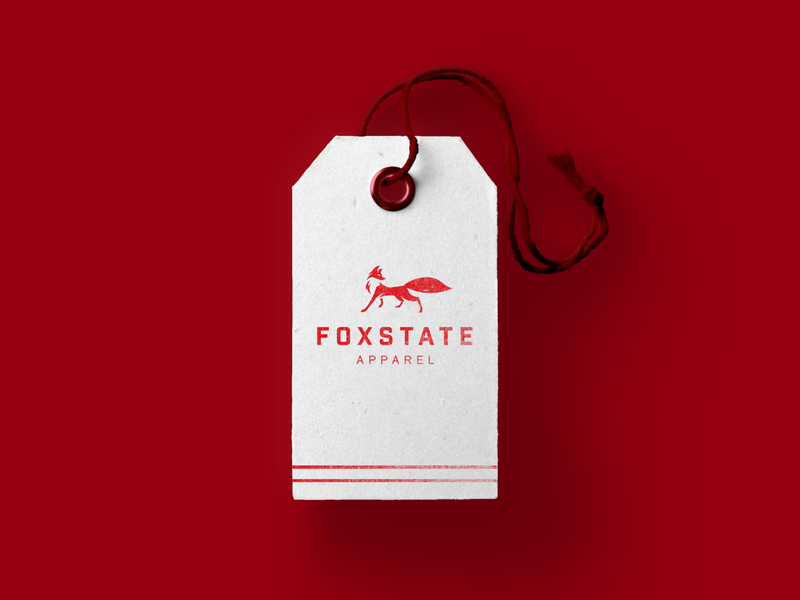 Foxstate clothing tag