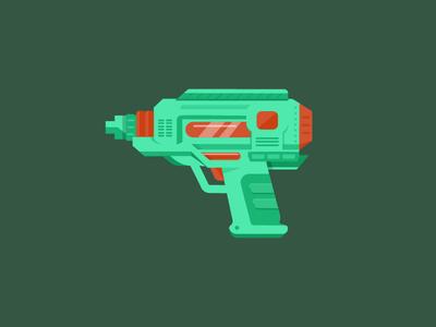 Water pistol/gun vector illustration watergun waterpistol weapon art