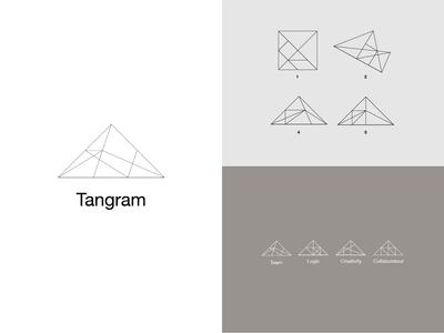 Tangram logo design