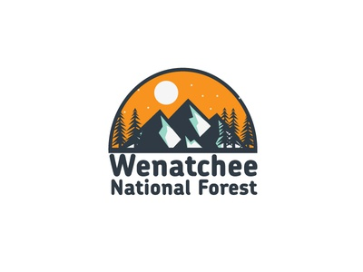 Day 25 - Wenatchee National Forest #ThirtyLogos thirtylogos logo forest conception challenge