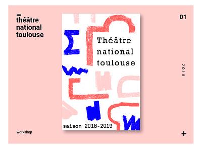 Théâtre national deToulouse workshop poster city théâtre