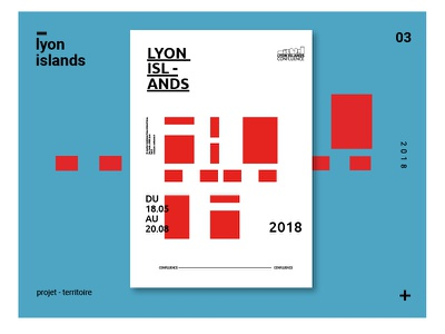 Lyon Island poster logo exposition lyon